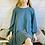 Thumbnail: Scoop Back Frill Hem Dress in Petrol Blue