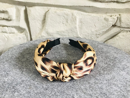 Knotted Head Band in Leopard Print