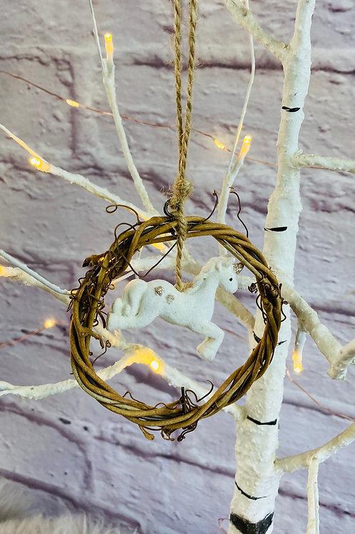 Prancing Unicorn Wreath