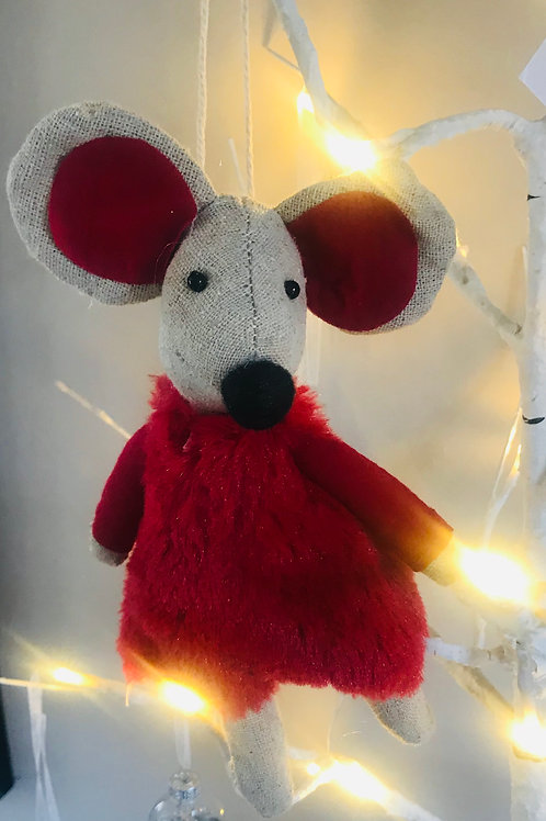 Cute Mouse in Red Outfit Hanging Decoration