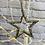 Thumbnail: Hanging Silver Metal Star - 12cm
