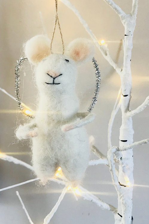 """Matilda"" - Felt Angel Mouse"