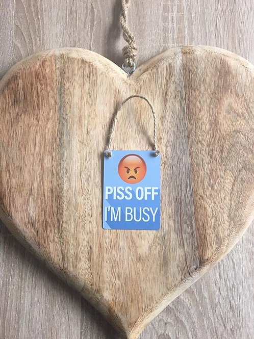 """""""Busy"""" mini hanging plaque"""