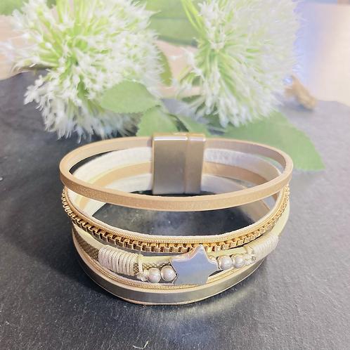 Multi strand Bracelet with Star Pendant