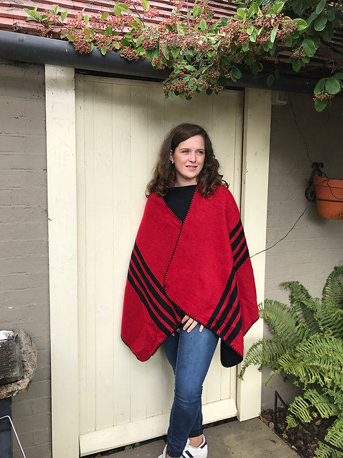 Black/Red Reversible Cape