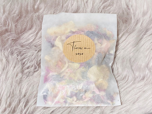 Handmade Natural Dried Petal Confetti - 5 Bags