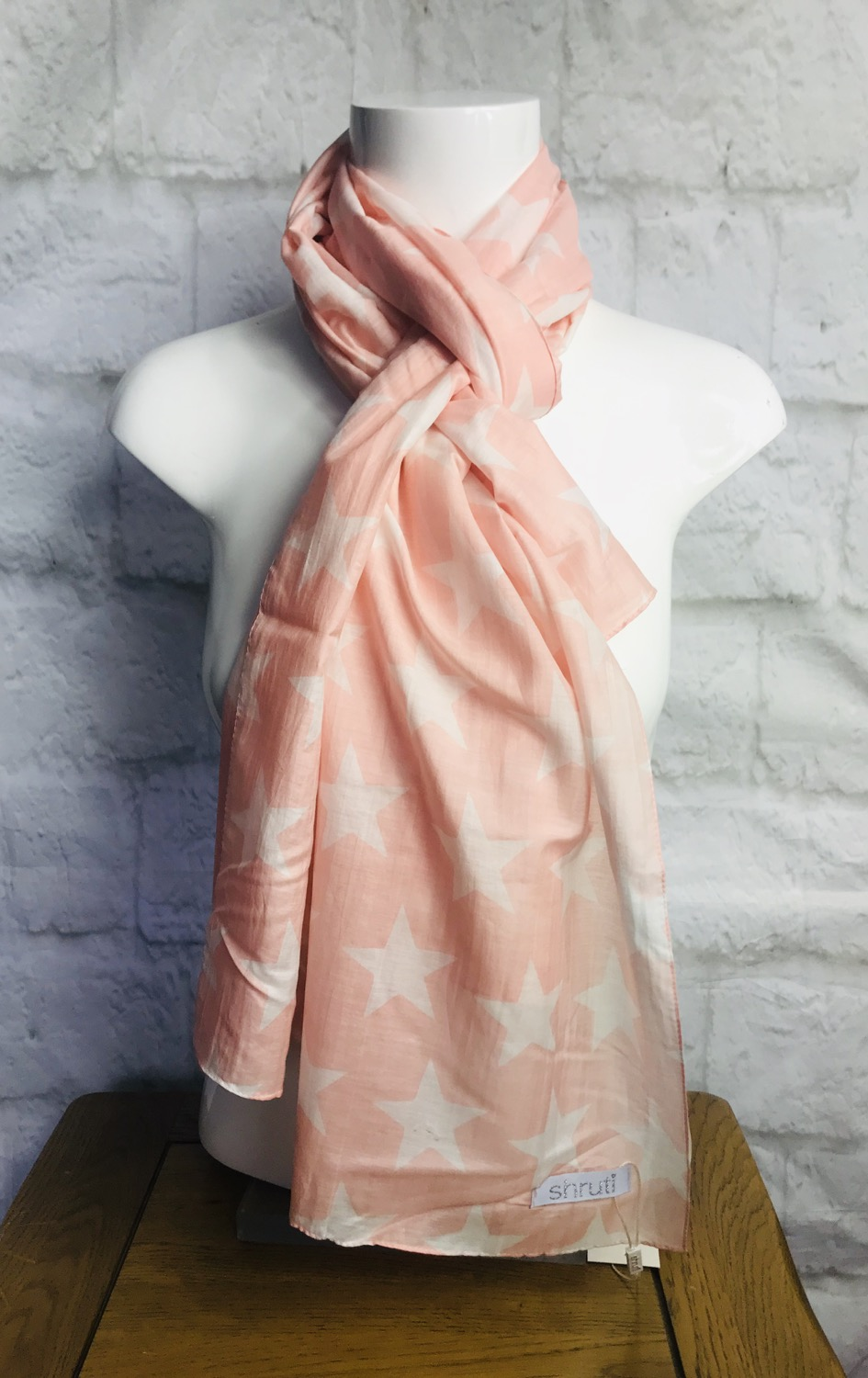 Pink Stars Silky Scarf