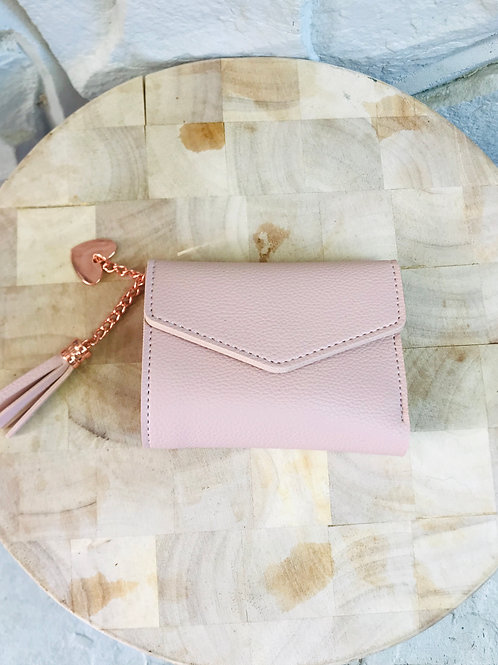 Pink Small Purse with Heart/Tassel