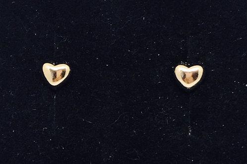 Heart Stud Earrings - Rose Gold