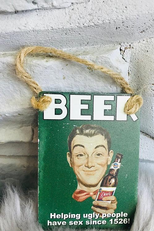 Beer - mini metal sign