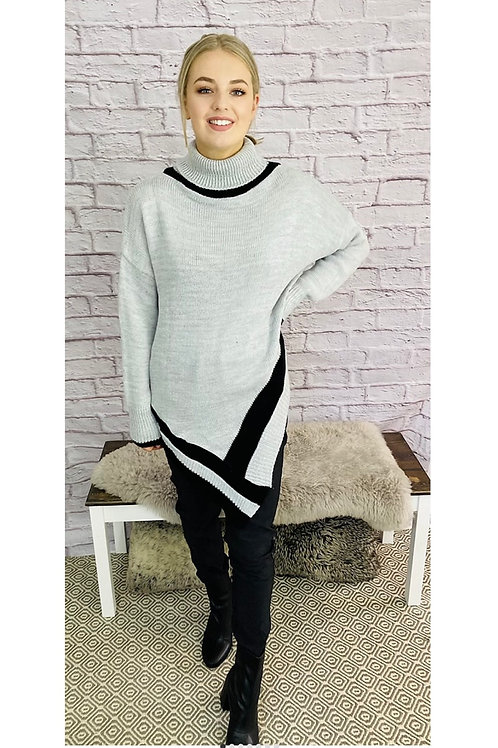Poncho Style Roll Neck Jumper