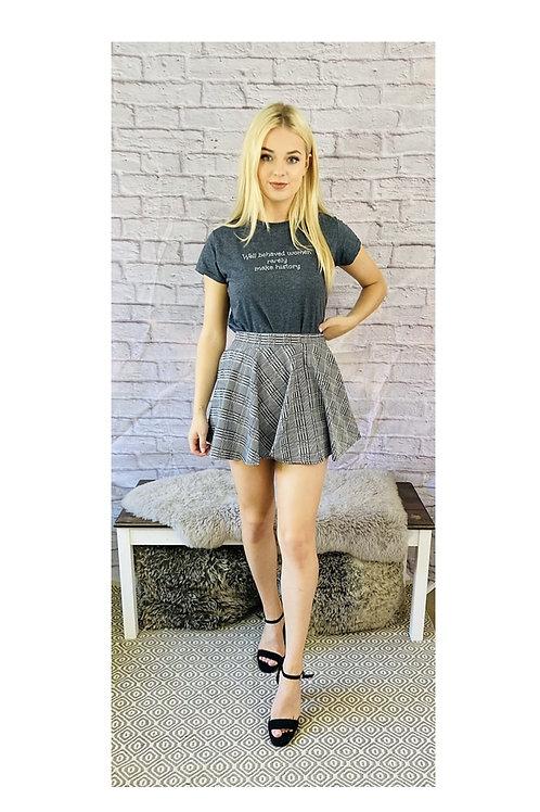 Check Monochrome Skirt