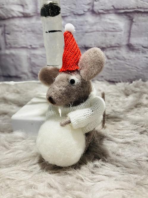 'Mikah' Woollen Christmas Mouse