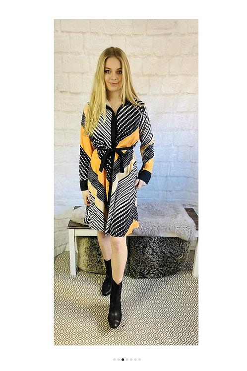 Dots and Stripes Shirt Dress