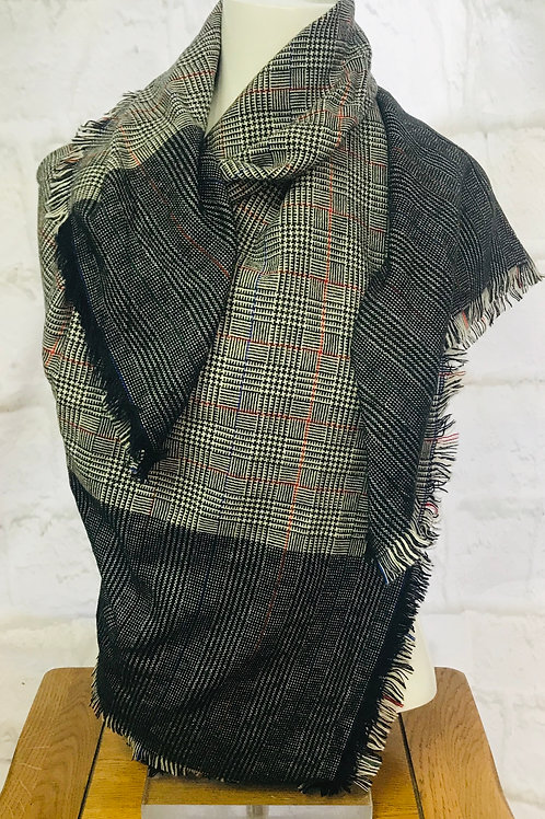 Mini Check & Houndstooth Scarf