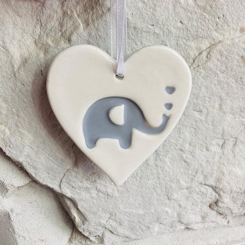 Baby Elephant Hanging Heart