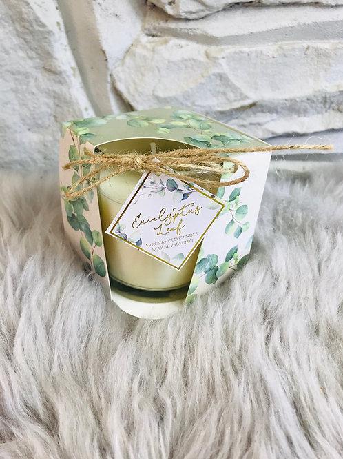 Eucalyptus Print Candle Pot