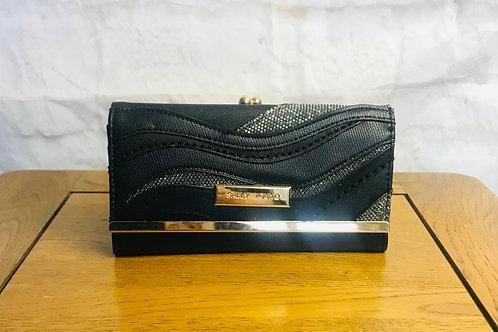 Black Wave Design Wallet/Purse