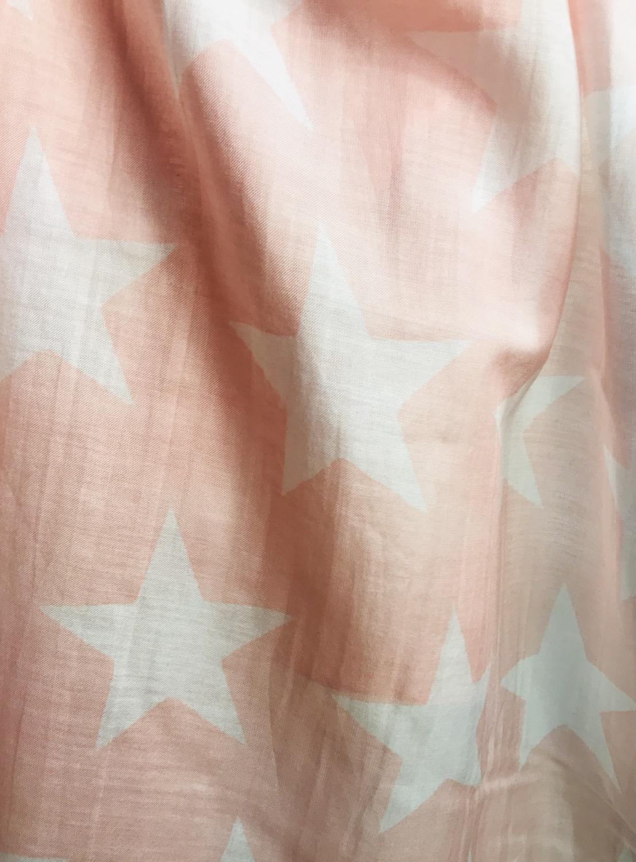 Thumbnail: Pink Stars Silky Scarf