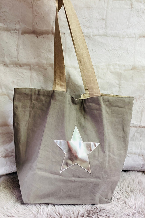 Large Grey Star Bag