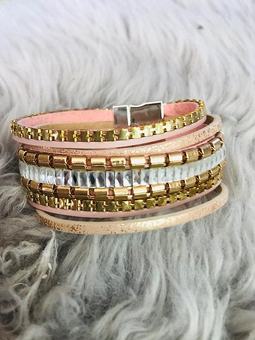 Rose Gold Multi Row Magnetic Bracelet