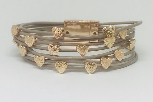 Small Floating Hearts Bracelet