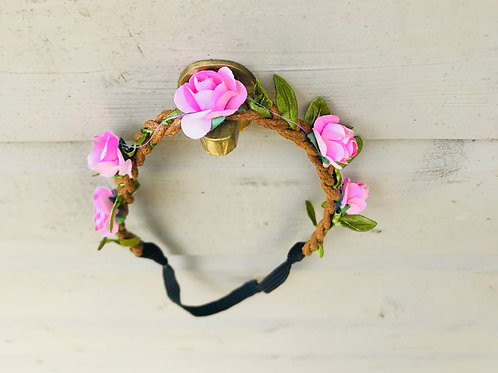 Pink Flower Garland Headband