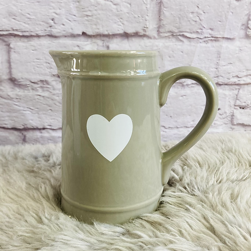 Grey Jug with White Heart