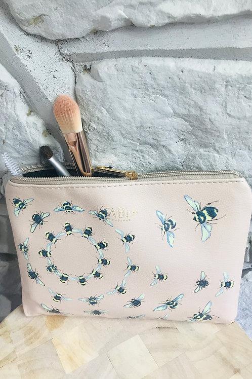 Vintage Bee Design Make Up Bag
