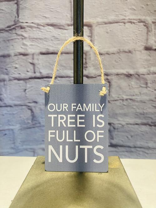 'Family Tree' Mini Metal Sign