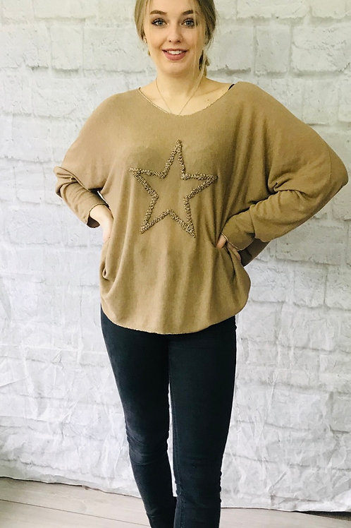 Shining Star Top in Camel
