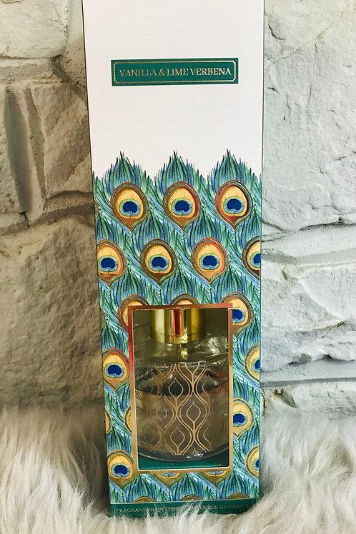 Peacock Reed Diffuser - Vanilla & Lime Verbena