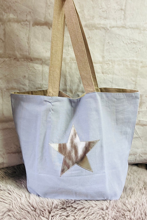 Large Blue Star Bag