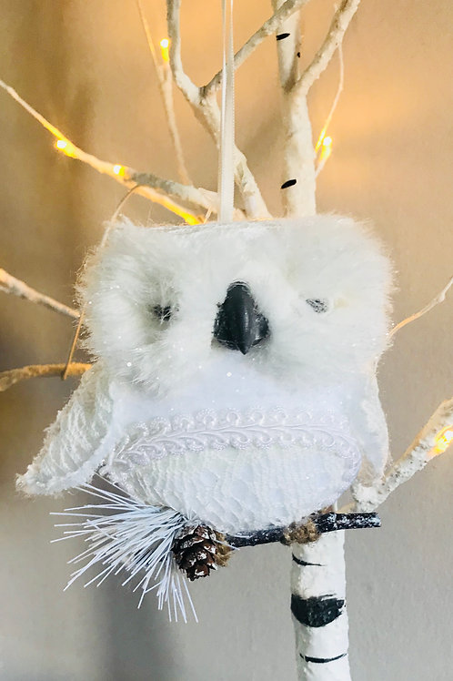 Hanging White Owl Decoration