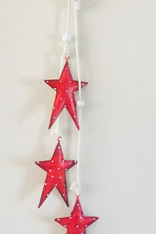 Red Polka Dot Hanging Stars