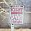 Thumbnail: Silent Night Mini Metal Hanging Sign