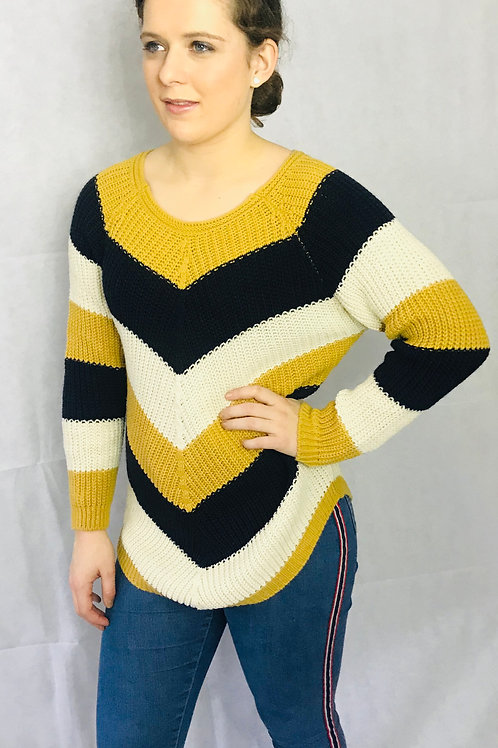 Chevron Knitted Jumper