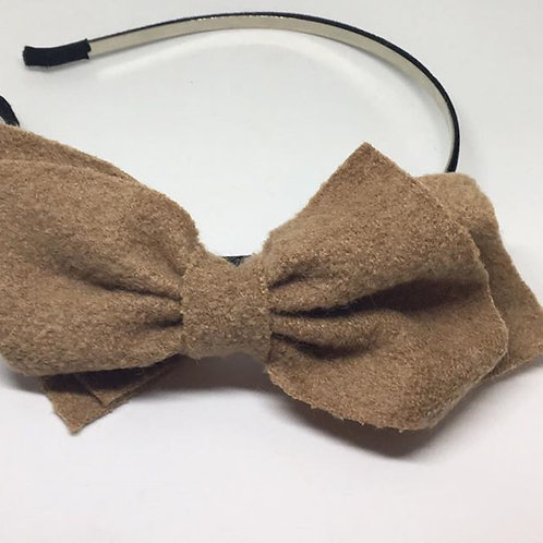 Taupe Bow Alice Band