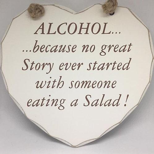 Alcohol Heart Plaque
