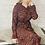 Thumbnail: Animal Print Maxi Dress in Rust