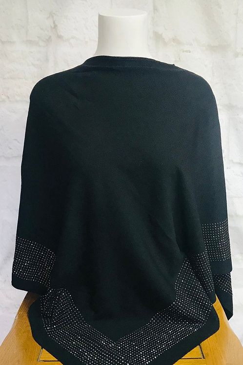 Diamanté Border Poncho