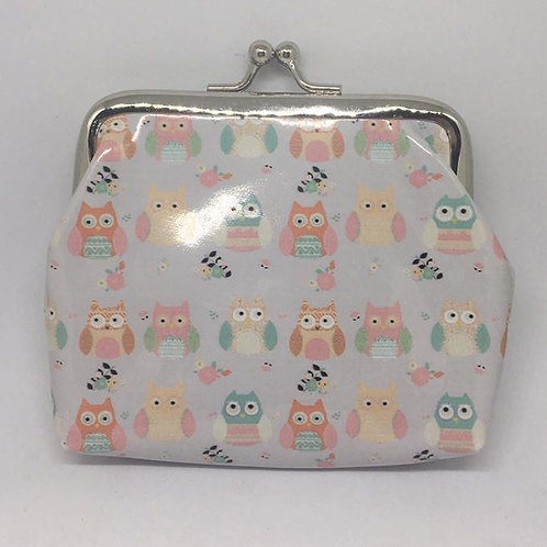 Owl Coin Purse - Cream