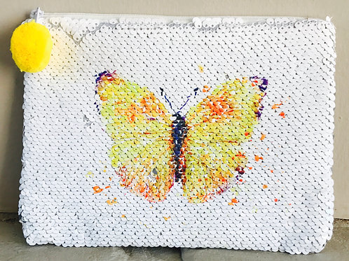 Butterfly Sequin Purse/Pencil Case
