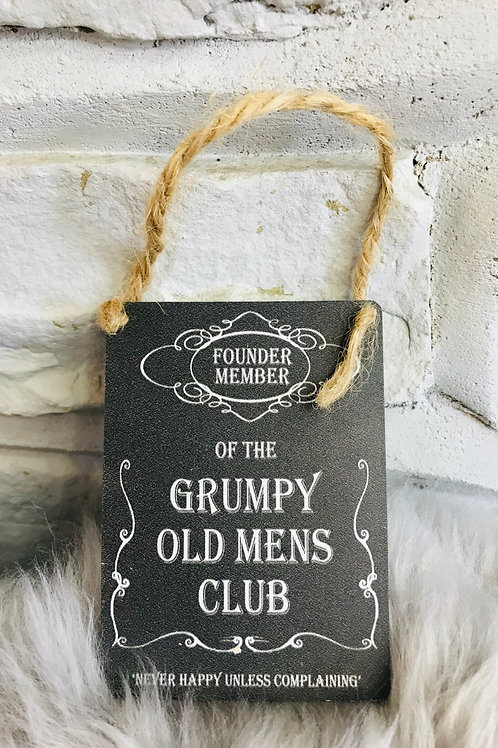 Grumpy Old Men's Club mini sign