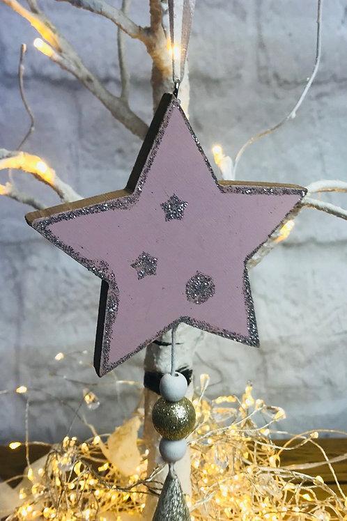 Pink & Gold Hanging Star