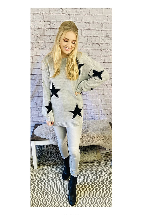 Star Print Knitted Jumper