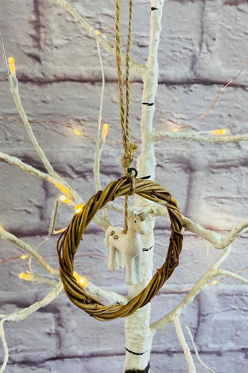 Standing Unicorn Wreath