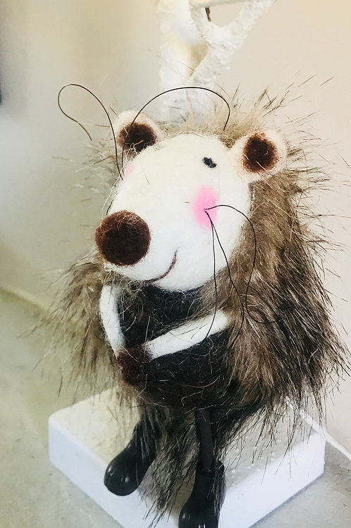"""Herbert""  Felt Hedgehog"