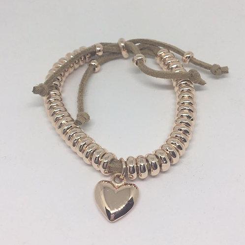 Rose Gold Link Heart Bracelet