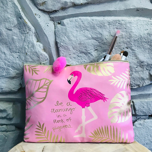 Be a Flamingo - Cosmetics Bag/Purse/Pencil Case